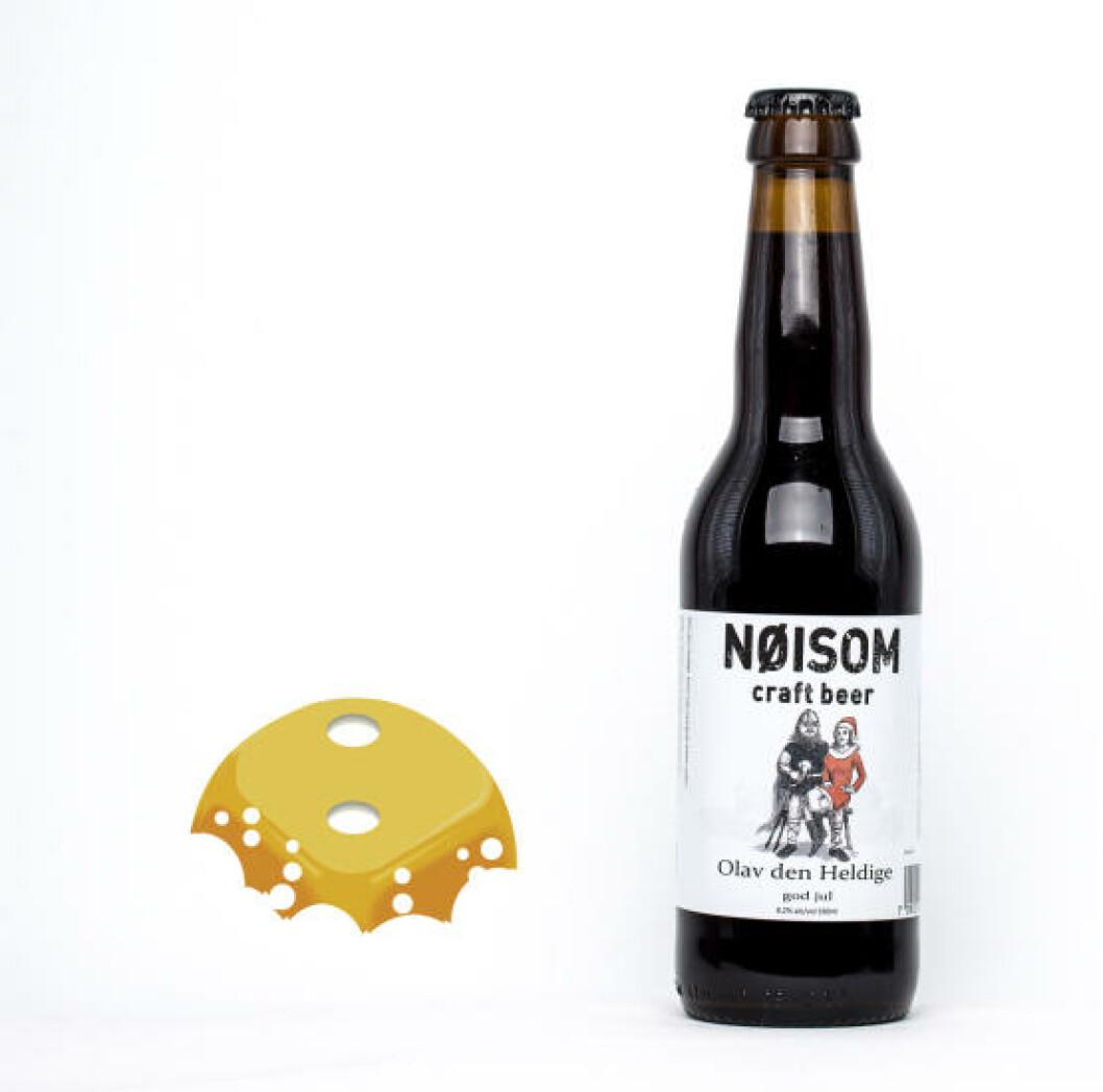 Nøisom Olav den Heldige, 0,5 l flaske, 8,2%. Litt kjemisk ettersmak, litt tynt.