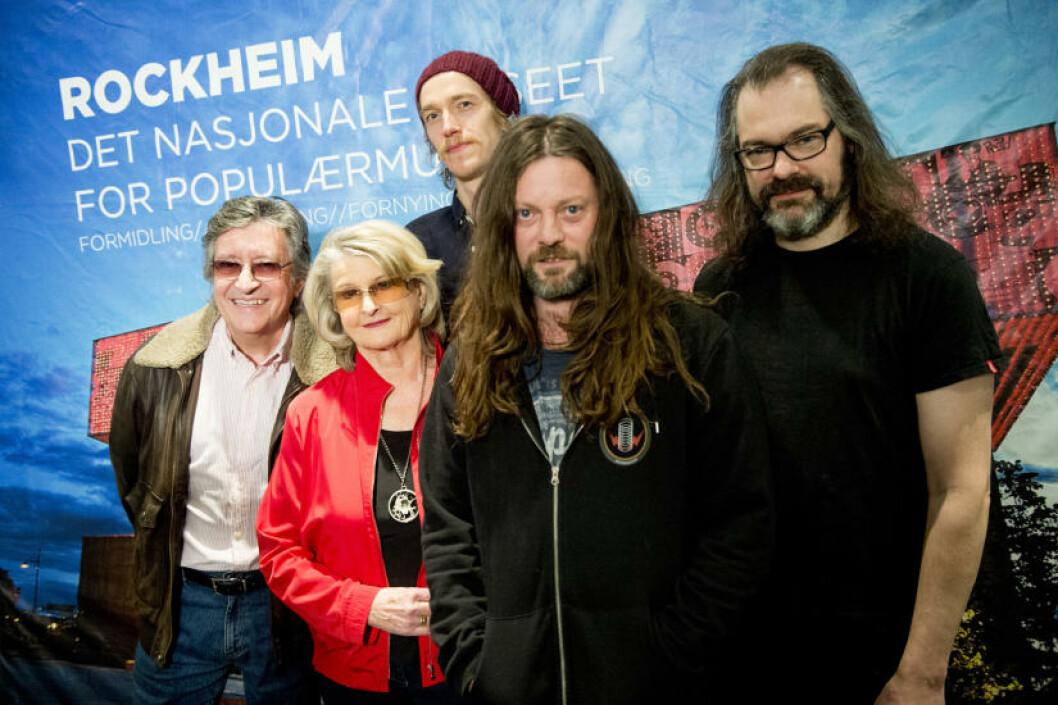 <strong>ROCKHEIM:</strong>Her er de nye artistene som blir hedret med innlemmelse i Rockheim Hall of Fame: Svein Finjarn, Karin Krog og Motorpsycho. Foto: Jon Olav Nesvold / NTB scanpix