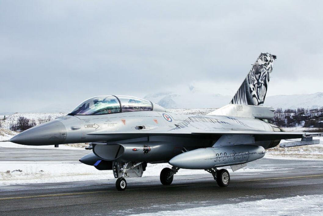 Norsk F-16 jagerfly på Bodø hovedflystasjon. Foto: Ove Ronny Haraldsen/Forsvaret