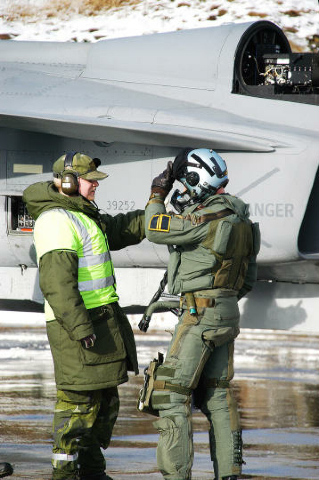 Svensk JAS Gripen jagerfly på Bodø hovedflystasjon. Foto: Ove Ronny Haraldsen/Forsvaret