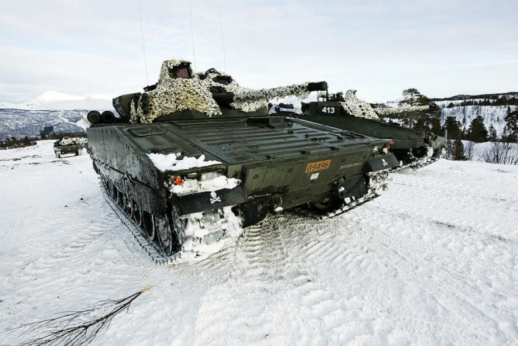 CV9030 stormpanservogner er blitt arbeidshesten i de mekaniserte bataljonene. Foto: Torbjørn Kjosvold/Forsvaret